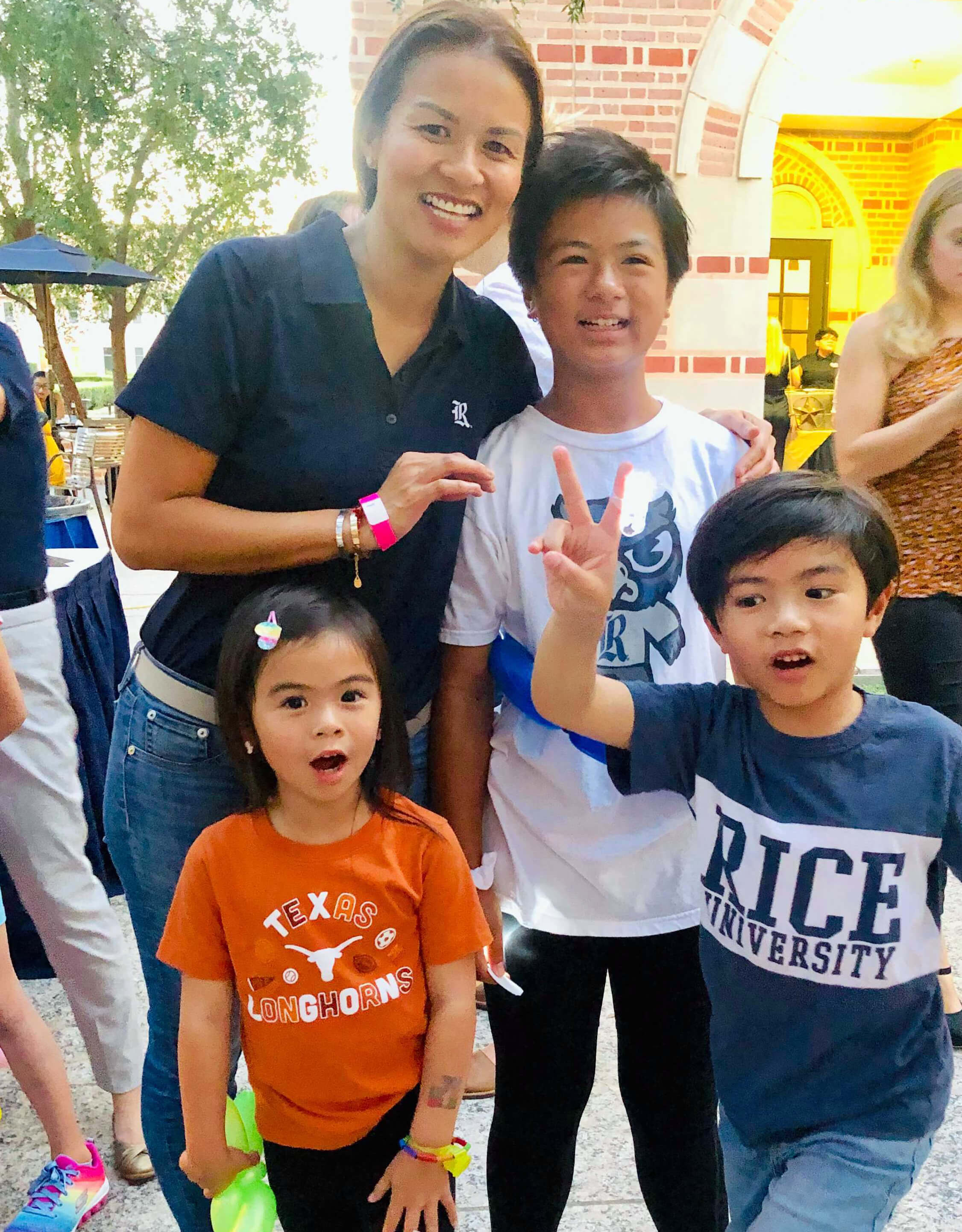 Jackie Nguyen and her children