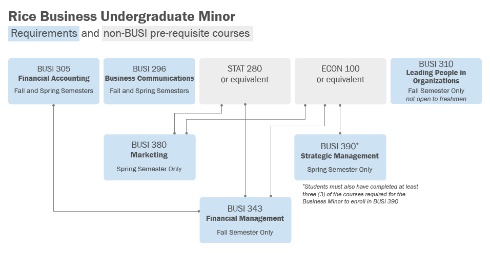 Rice Business Undergraduate Minor Requirements