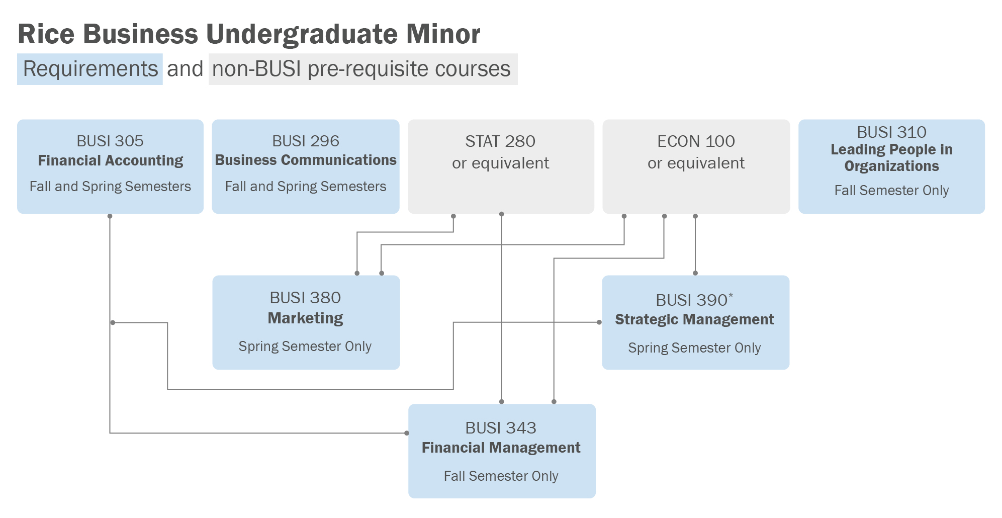 Rice Business Undergraduate Business Minor Requirements