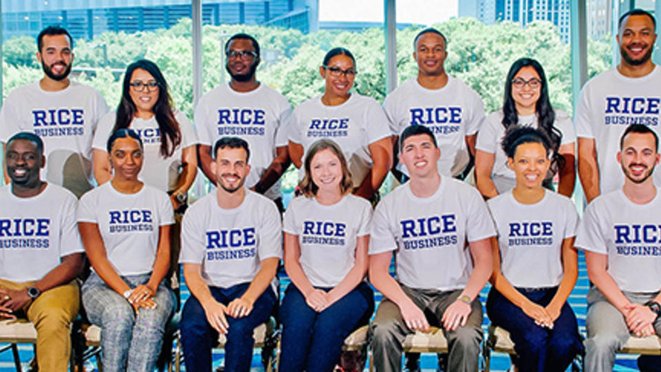Rice Business MBA students