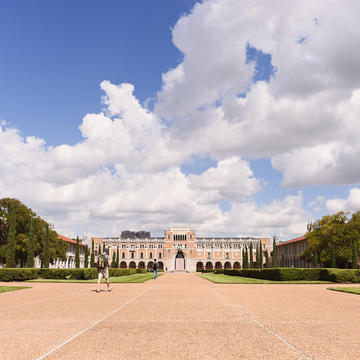 Front of Rice University Campus