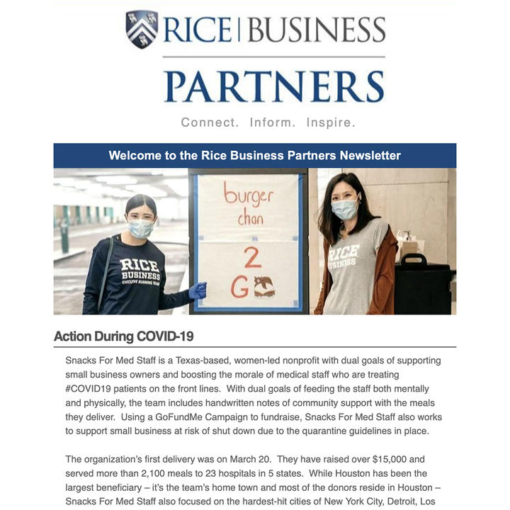 Rice Business Partners newsletter - June 2020