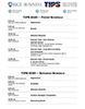 TIPS Schedule